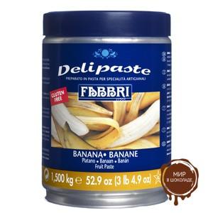 Паста десертная Делипаст БАНАН, банка 1.5 кг.