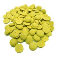 Лауриновая глазурь со вкусом и ароматом фисташки Диски Centramerica Verde Pistacchio Dischi , 1 кг
