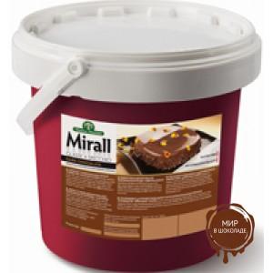 Mirall Cioccolato Fondente, зеркальная глазурь, со вкусом темного шоколада, для покрытия кондитерских изделий, ведро 5 кг