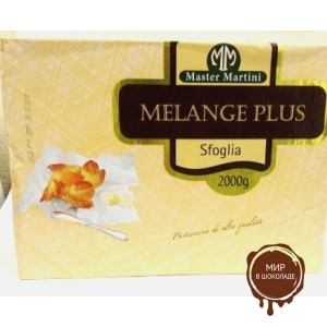 Маргарин для слоеного теста (10% сливочного масла) Melange Plus Sfoglia, 5*2кг.