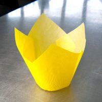 Форма бумажная ТЮЛЬПАН 160/50 желтая, короб 2000 шт.