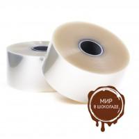 Бордюрная лента пленка для обтяжки тортов прозрачная 200 мкм., h 45 мм, 220 м, 1 ролик.