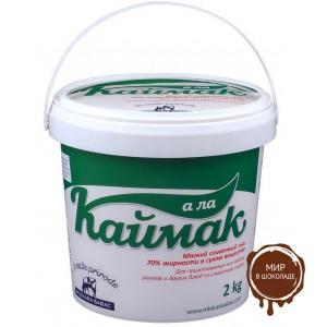 Сыр мягкий А ла Каймак сливочный  70%, кор. 4*2 кг.