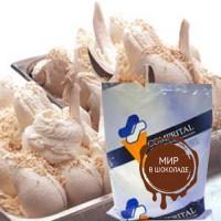 Смесь для мороженого БЕЛЫЙ ШОКОЛАД И КОКОС, 1,25 кг.