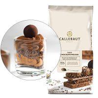 ТЕМНЫЙ ШОКОЛАДНЫЙ МУСС 75% шоколад, 0,8 кг.