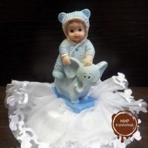 Фигурка новорожденного, голубая (26166*C/p), шт.