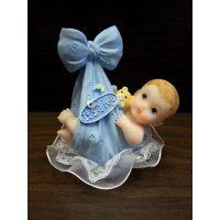 Фигурка новорожденного, голубая (26148*С/p), шт.