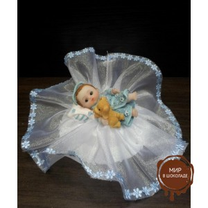 Фигурка новорожденного, голубая (26157*С/p), шт.