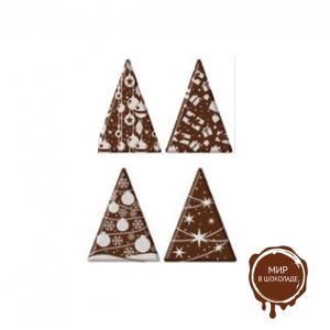 Декор из глазури Ель Треугольник 33*45 мм, белый, 180 шт.