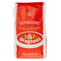 Мука Le 5 Stagioni из мягких сортов пшеницы типа 00 Супериоре, 1кг*10 шт.