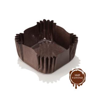 Капсула бумажная квадрат 33х33х18 мм коричневая, мешок 2000 шт.