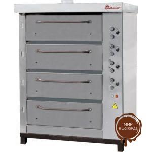 Хлебопекарная ярусная печь ХПЭ-750/4 (нерж)