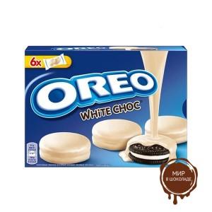 Oreo Choc White облитое ,белым  шоколадом 246 гр.