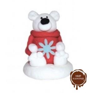 "Сахарная фигурка - ""Белый медведь"""