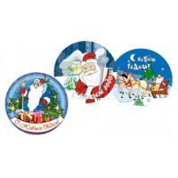 """Вафельные пластины - """"Дед Мороз"""", 14,5 см., 27 шт."""