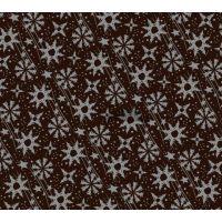 Трафаретный лист-пленка серебряные снежинки и звезды, 12 шт.