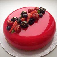 Глазурь блестящая красные фрукты горячего исп. Miroir PatisFrance, 2.5 кг.