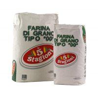 Мука Le 5 Stagioni из мягких сортов пшеницы типа 00 Усиленная(зелёный лейбл), 25 кг.