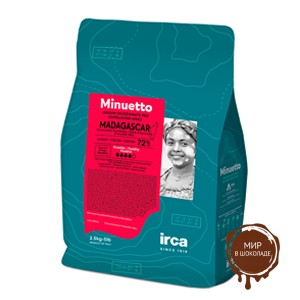 Шоколад темный МЕНУЭТ МАДАГАСКАР 72%, 2.5 кг.
