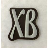 Декор фигурный темный ХВ с надписью  из белой глазури, 486 шт.