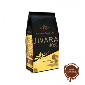 Молочный шоколад Живара лакте 40% какао, Valrhona, 3 кг.
