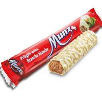 Батончики  MUNZ из белого шоколада с начинкой пралине 46 гр.