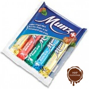 Батончики  MUNZ из молочного шоколада с начинкой пралине, 115 гр.