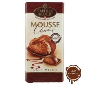 Молочный шоколад MOUSSE MILK с начинкой из шоколадного мусса, 100 гр.