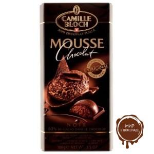 Горький шоколад MOUSSE NOIR с начинкой из шоколадного мусса, 100 гр