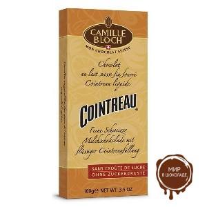 Молочный шоколад с ликером Куантро, 100 гр