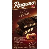 Горький шоколад Ragusa Noir с трюфельной начинкой и целыми лесными орехами, 100г.