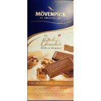 Молочный шоколад с грецким орехом, Movenpick, 100 гр.
