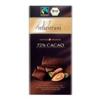 Горький шоколад Maestrani 72% какао, 80 гр.