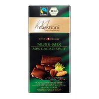 Горький шоколад Maestrani 60% какао с миндалем и кусочками фундука, 80 гр.