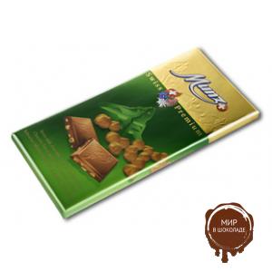 Молочный шоколад MUNZ с обжаренным фундуком, 100 гр.