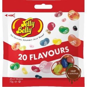 Драже жевательное Jelly Belly ассорти 20 вкусов 70 г пакет