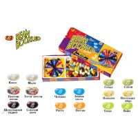 "Драже жевательное ""Jelly Belly"" ассорти Bean Boozled 100г с вращ. диском"