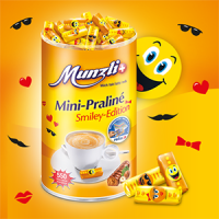 Конфеты MUNZ Smiley из молочного шоколада с начинкой пралине Smiley, 2500 гр.