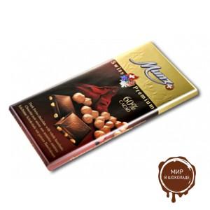 Горький шоколад MUNZ 60% какао с обжаренным фундуком, 100 гр.