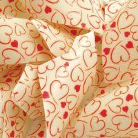 Трафаретный лист-пленка сердца