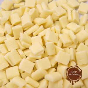 Шоколадные КУБИКИ белые (CUBETTI DI CIOCCOLATO BIANCO) 30%, ICAM /Италия/, короб 4 кг.