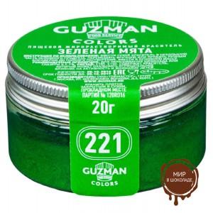 Краситель порошковый Guzman Зеленая мята №221, 20 гр.