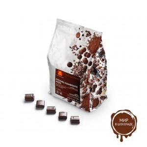 Шоколадные КУБИКИ темные CUBETTI DI CIOCCOLATO FONDENTE 45%, ICAM /Италия/, 4 кг.