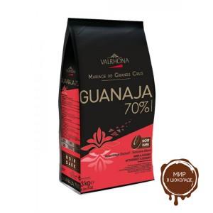 Горький шоколад Гуанара, 70% какао, Valrhona, 3 кг.