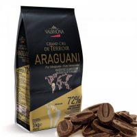 Горький шоколад Арагуани, 72% какао, Valrhona, 3 кг.