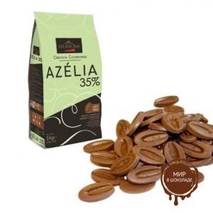 Молочный шоколад Azelia 35% какао, Valrhona, 3 кг.