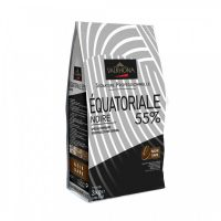 Черный классический шоколад Экиториаль нуар 55% какао, Valrhona, 3 кг.