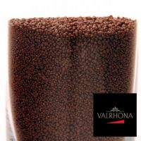 Гранулы из черного шоколада мелкие, Valrhona, 1 кг.  (заказная позиция)