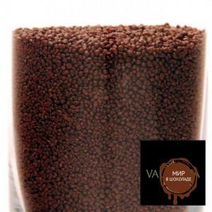 Гранулы из черного шоколада Valrhona мелкие, 1 кг.