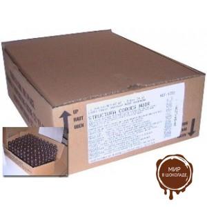 Шоколадные капсулы для трюфелей из горького шоколада Карак 56% какао, Valrhona, диам. 2,5 см, вес 2,5 гр., 504 шт.